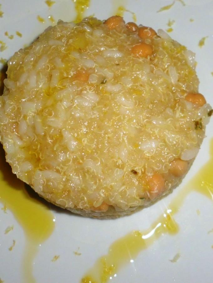 Quinoa con riso limone e zenzero