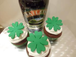 St. Patrick day –  Baileys Cupcakes
