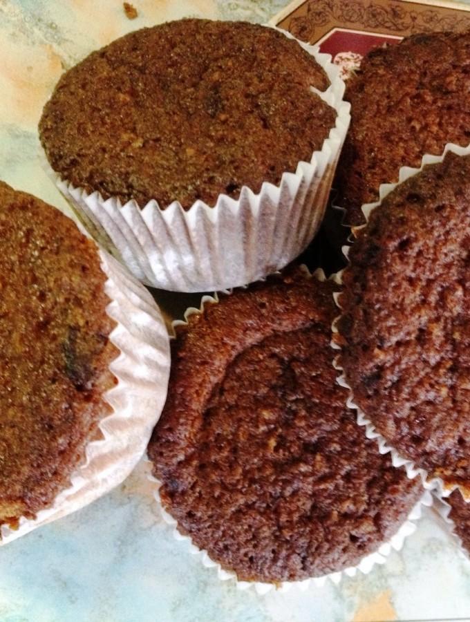 Muffin integrali al cioccolato salato