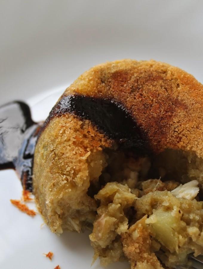 Tortino di patate e carciofi glassato al Vincotto