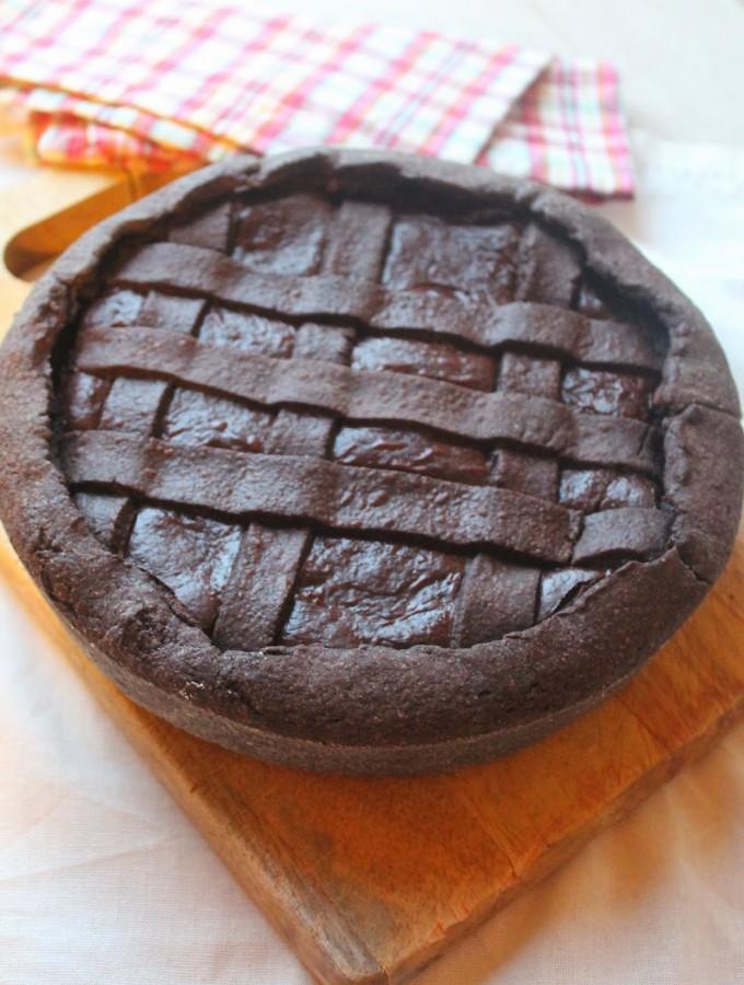 Crostata al cioccolato fondente di Ernst Knam