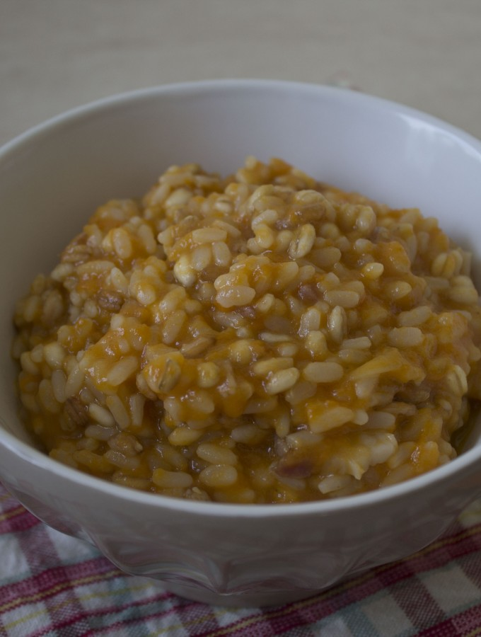 Risotto cinque cereali alla zucca