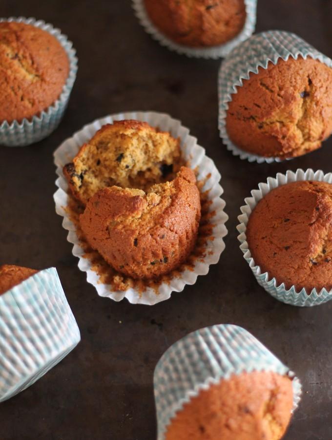 Muffin allo zafferano e liquirizia