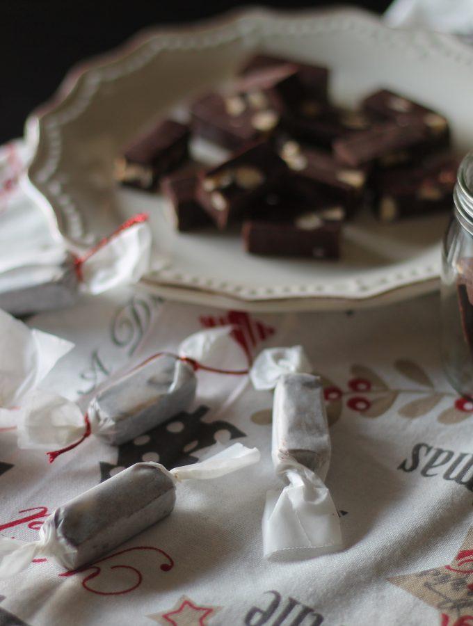 Fudge al cioccolato fondente con nocciole