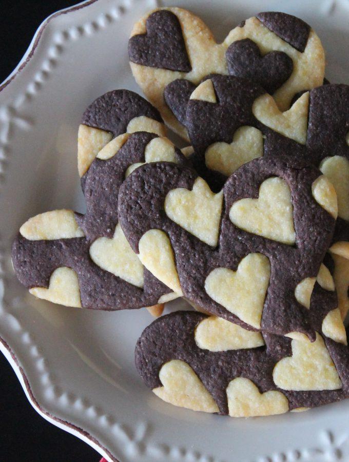Biscotti alla vaniglia e al cacao – Cuori di San Valentino