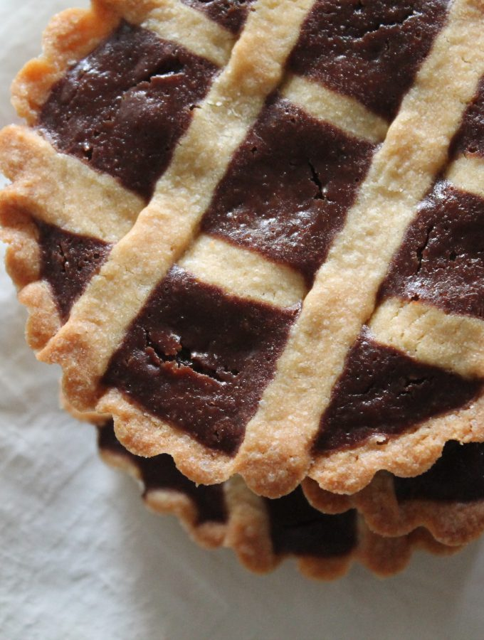 Crostatine di pastiera al cioccolato