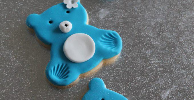 Biscotti decorati: teddy bear cookies