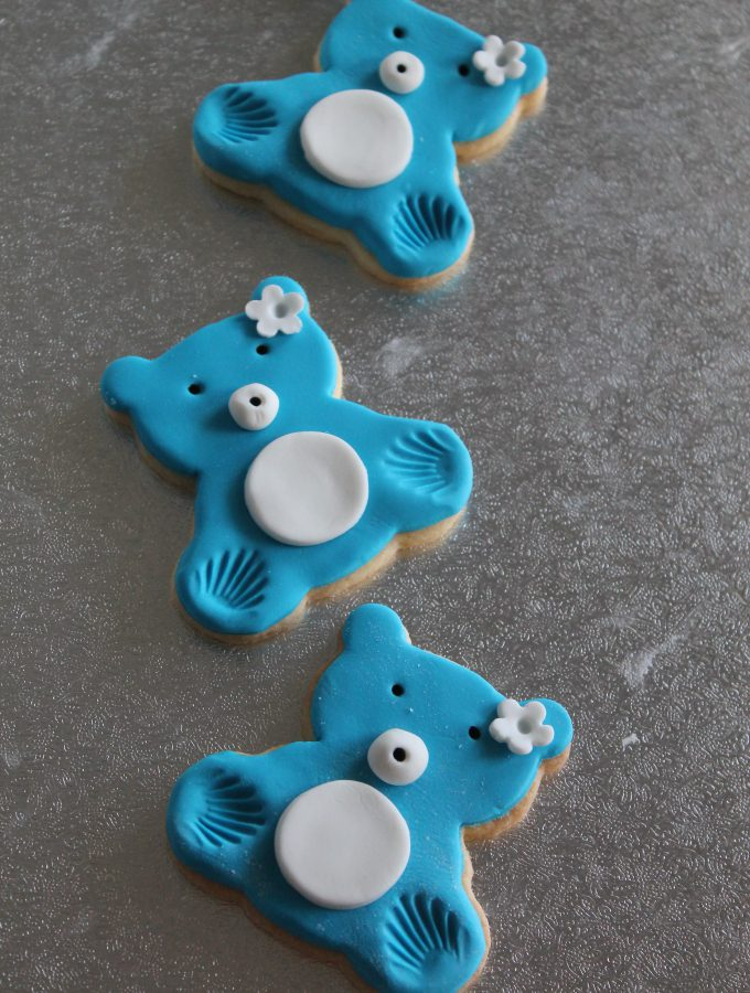 Biscotti decorati: teddy bear cookies